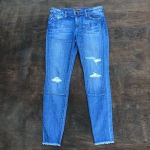 Joe's Jeans Finn Ankle Skinny Jeans raw hem 28